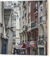 Walking The Streets Of Paris Wood Print
