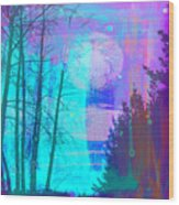 Walking Through The Forest Wood Print