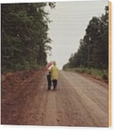 Walking Up North With Grandma Wood Print