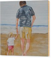 Walking With Pops Wood Print
