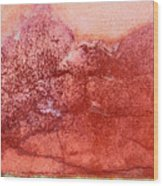 Wall As Mountain Landscape Wood Print