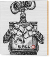 Wall-e Wood Print by James Sayer