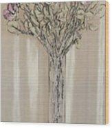 Wall Flower Decoration Wood Print