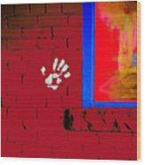 Wall Hand Face Wood Print