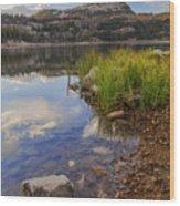 Wall Lake Wood Print