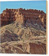 Wall Of Goblins Along  Carmel Canyon Trail In Goblin Valley State Park, Utah   Wood Print