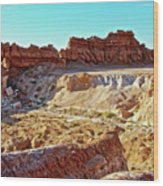 Wall Of Goblins In Carmel Canyon Trail In Goblin Valley State Park, Utah Wood Print