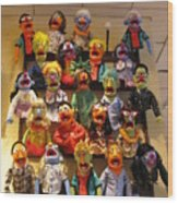 Wall Of Muppets Wood Print by Choi Ling Blakey