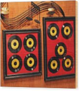 Wall Of Records Wood Print