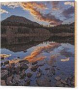 Wall Reflection Wood Print