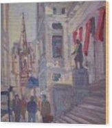 Wall St. Wood Print