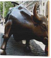 Wall Street Bull Wood Print