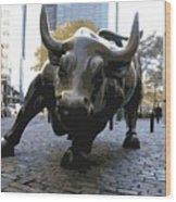 Wall Street Bull Color 16 Wood Print
