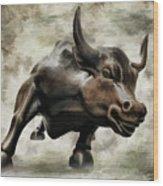 Wall Street Bull Viii Wood Print