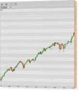 Wall Street Monthly Chart 08/08/2018 Close Wood Print