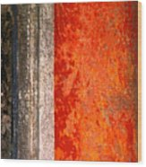 Wall With Red By Michael Fitzpatrick Wood Print