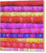 Wallart-multicolor Design Wood Print