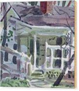 Wallis House Wood Print
