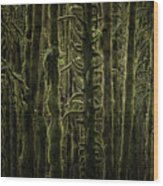 Wallpaper Trees Wood Print