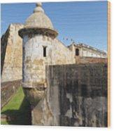 Walls Of San Cristobal Fort San Juan Puerto Rico  Wood Print by George Oze