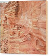 Walls Of Wash 3 In Valley Of Fire Wood Print