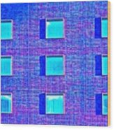 Walls Of Windows Wood Print