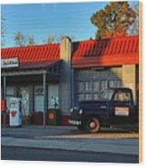 Wallys Service Station Wood Print