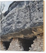 Walnut Canyon National Monument Cliff Dwellings Wood Print