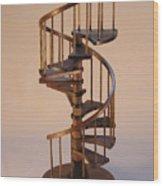 Walnut Spiral Staircase  Wood Print by Don Lorenzen
