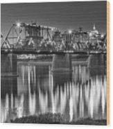 Walnut Street Bridge And Capitol Wood Print
