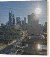 Walnut Street Sunrise From University City Wood Print