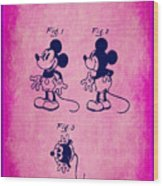Walt Disney Mickey Mouse Toy Patent 2g Wood Print