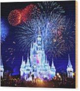 Walt Disney World Fireworks  Wood Print