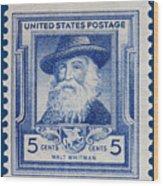 Walt Whitman Postage Stamp Wood Print