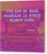 Walt Whitman Quote Typewriter Wood Print