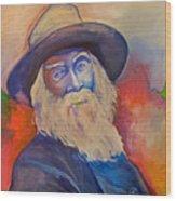 Walt Whitman Wood Print