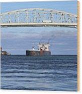 Walter J. Mccarthy And Blue Water Bridge 112917 Wood Print