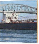 Walter J. Mccarthy Jr. And Blue Water Bridge 2 112917 Wood Print