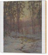 Walter Launt Palmer 1854-1932 Winter Stream At Sunset Wood Print