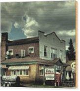 Walt's Diner - Vintage Postcard Wood Print