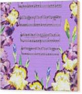 Waltz Of The Flowers Dancing Iris Wood Print