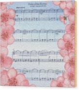 Waltz Of The Flowers Dancing Pink Wood Print