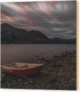 Wanaka Rowboat 2 Wood Print