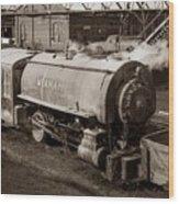 Wanamie Pennsylvania Coal Mine Locomotive Lokey 1969... Wood Print