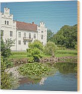 Wanas Castle Duck Pond Wood Print