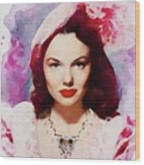 Wanda Hendrix, Vintage Movie Star Wood Print