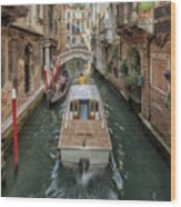 Wandering The Beautiful Venice Canals Wood Print