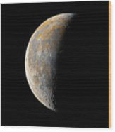 Waning Crescent Moon / Day 23 Wood Print