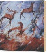 Wapiti- Petroglyph Wood Print
