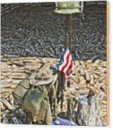 War Dogs Sacrifice Wood Print by Carolyn Marshall